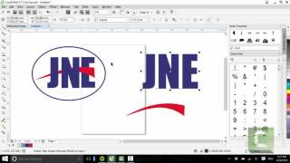 Tutorial Membuat Logo JNE Dicorel Draw X7