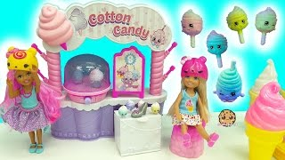 Shopkins Season 7 Cotton Candy Party Playset + Surprise Blind Bags with Barbie Kids