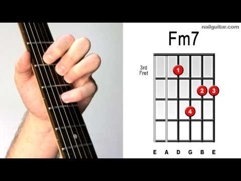Fm7 ♫♬ Fast & Easy Guitar Chord Tutorial - Learn Electric Chords Lesson