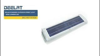Solar Street Light - 3000 Lumens LED - with Remote SKU #D1151528