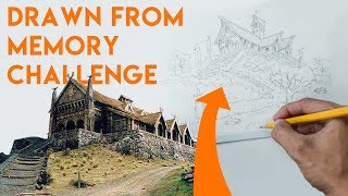 Architect draws Lord of The Rings Castles from Memory