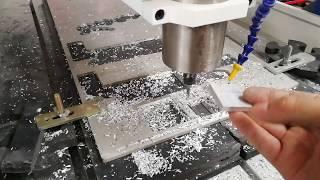 Acctek AKG6090 Desktop Mini CNC Cutting Alum Test