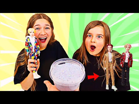 TURN THIS BTS DOLL INTO SLIME CHALLENGE! | JKrew