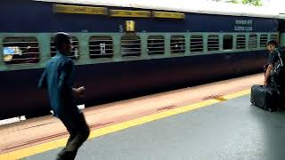 How to board an Indian train.