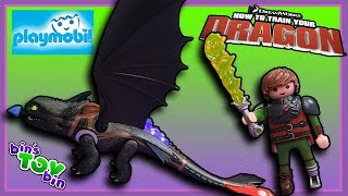 PLAYMOBIL DREAMWORKS DRAGONS! | Toothless And Hiccup Set Review | Bin's Toy Bin