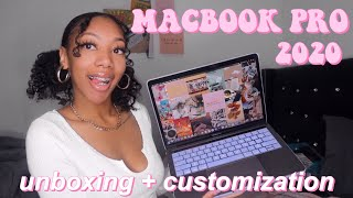 UNBOXING AND CUSTOMIZING MY NEW MACBOOK PRO 2020 13 + CUTE MACBOOK ACCESSORIES!
