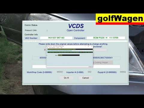 VW Golf 7 LED license plate light /cold diagnose coding - LED coding