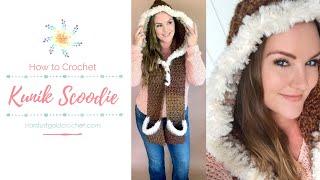 Kunik Scoodie | Fur Lined Hooded Scarf With Pockets | Free Crochet Pattern