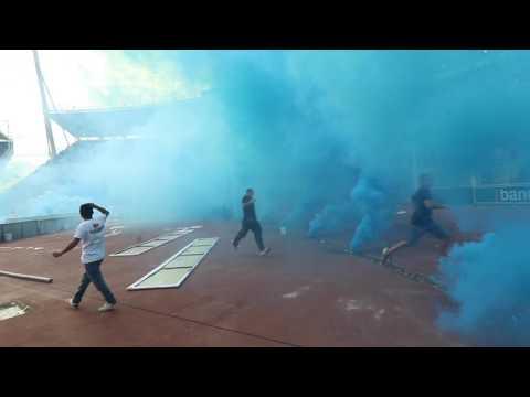 """""""RECIBIMIENTO BELGRANO VS 7alleres abril del 2017"""" Barra: Los Piratas Celestes de Alberdi • Club: Belgrano"""
