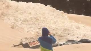 Приэльбрусье 24 марта 2018, Сход лавины (полная версия)