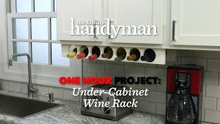 One Hour Project: Under-Cabinet Wine Rack