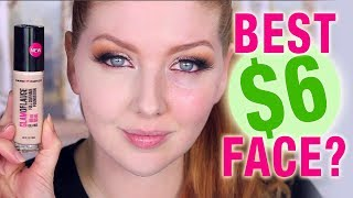 BEST $6 Full Coverage Drugstore Foundation?! | Review + Wear Test!
