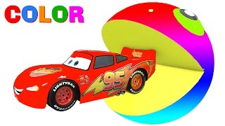 COLOR McQueen & PACMAN in 3D Cars Cartoon for Kids and Colors for Children Fun Video