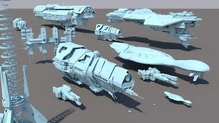 Starships size comparison (Halo)