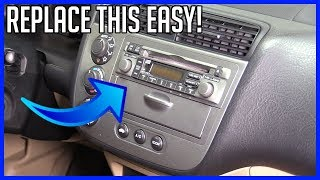 Replace Head Unit Radio Honda Civic