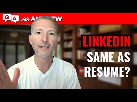 Download Should My LinkedIn Profile Match My Resume? Mp4 HD Video and MP3