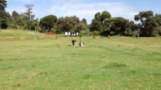 ケニア人選手の練習風景
