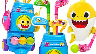 Baby Shark & Pinkfong~ Exciting golf play! | PinkyPopTOY