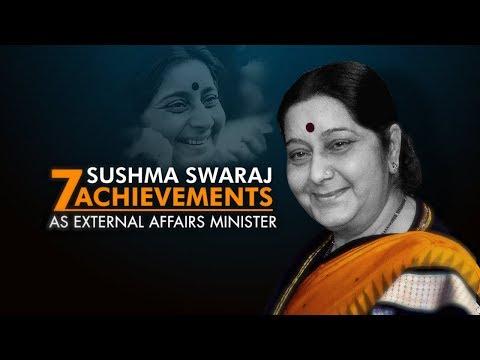 7 achievements of Sushma Swaraj as an External Affairs Minister