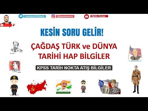 KPSS 2022 Çağdaş Tarih Nokta Atış Bilgiler | #kpss #yks #ekpss #öabt #lisans #önlisans #ortaöğretim