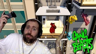 ELEVATOR OOPSIES   Gang Beasts Online Funny Moments Part 38