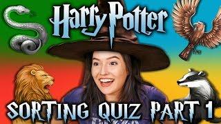 HARRY POTTER SORTING QUIZ - HOGWARTS HOUSES (React Special) - dooclip.me