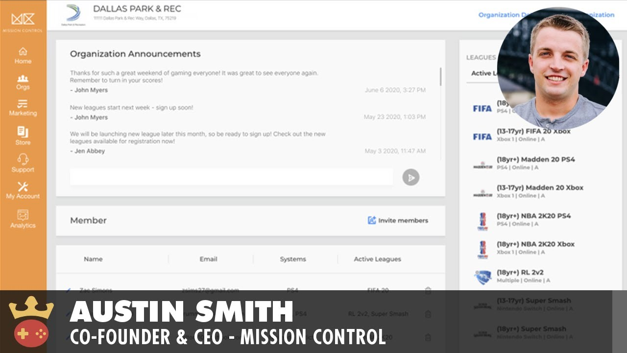 Video of Full Interview with Mission Control's Co-Founder and CEO, Austin Smith
