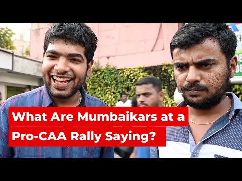 Voices From Pro-CAA and Anti-CAA Rallies in Mumbai   The Wire