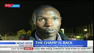 Kenyan athletics star, Kamworor flew in yesternight