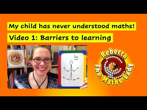 Screenshot of video: Maths - Parents Series 1- My child has always struggled with Maths