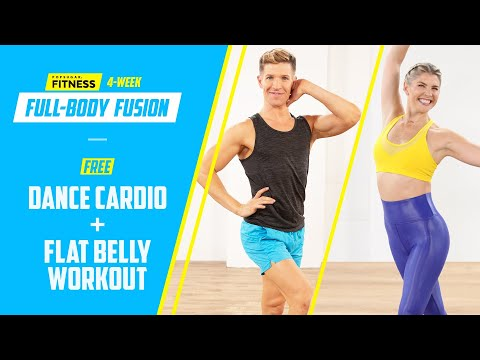 15-Minute Dance Cardio & Flat-Belly Toning Workout From 4-Week Full-Body Fusion