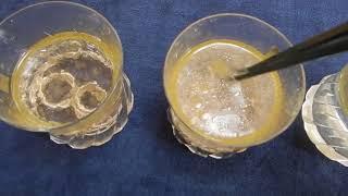 マグネシウムの洗剤効果実験