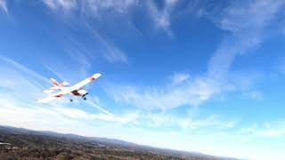 FPV quad chasing RC airplane