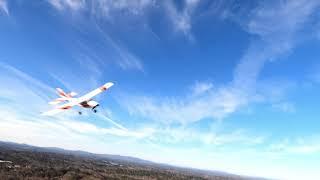 FPV quad chasing RC airplane