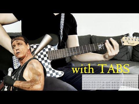 Rammstein - Ausländer Guitar Cover w/Tabs on screen