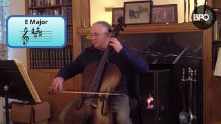 CELLO: One octave scales with Robbie Hausmann