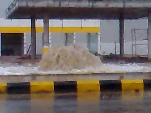 نافورة في أحد شوارع الرياض