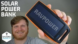 RAVPower 15000mAh Solar Charger Power Bank Review - Portable Battery