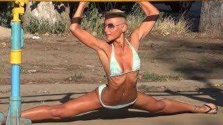 Street Workout in Ukraine - Female Fitness Motivation.