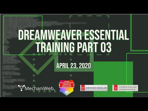 Dreamweaver Essential Training Part03 - YouTube