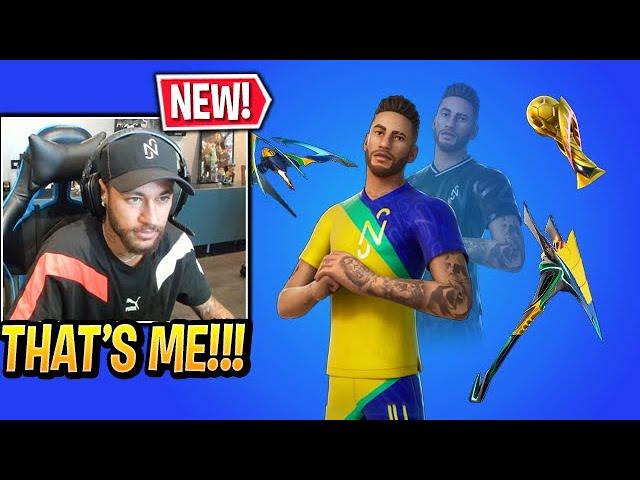 Soccer Skin Fortnite Youtube Logo Neymar Jr Reacts To His Own Skin In Fortnite Season 6