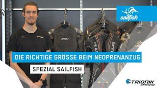 Die richtige Größe beim Neoprenanzug - Spezial Sailfish