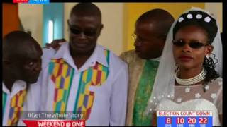 Visually impaired couple gets married in a colourful wedding in Machakos