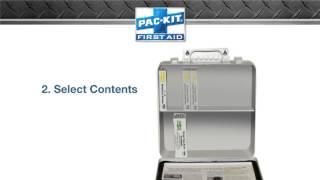 Pac kit build first aid kits