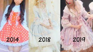 My Lolita Fashion Evolution! From 2014 - 2019!