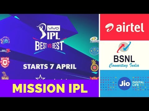 Mission IPL: Offers from Airtel, Reliance Jio & BSNL