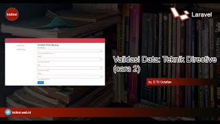 Validasi Data dengan Teknik Directive (Cara 2)