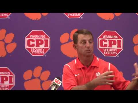 TigerNet.com - Dabo Swinney on facing Auburn in opener - Part 1 - 8.30.16