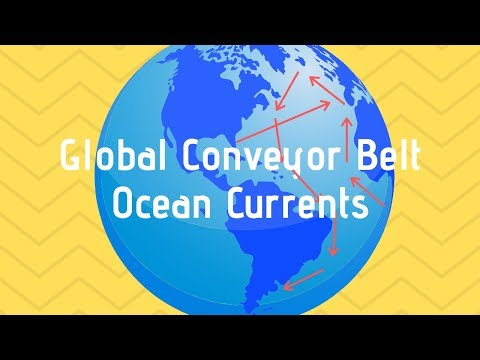 Global Conveyor belt-Ocean Currents caused by temperature and Salinity