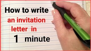 how to write an invitation letter in english  || letter of invitation